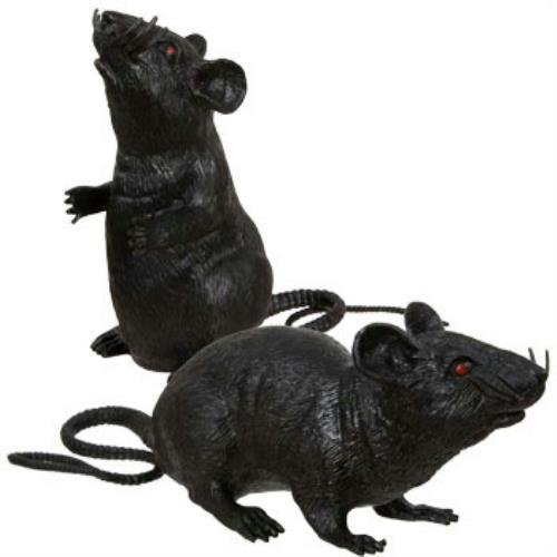 2 Scary Prank Black Rats Spooky Creepy
