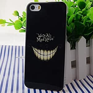 LIMME Colorful Crazy Teeth Pattern ABS Back Case for iPhone 5/5S