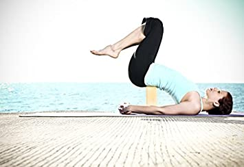 Natural Fitness Bamboo Yoga Block Amazon Co Uk Sports Outdoors