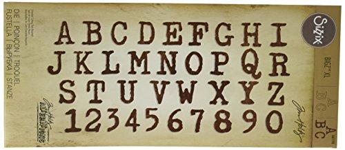 Sizzix Alphabet Dies (Ellison Sizzix Typo Upper Bigz Alphabet Die by Tim Holtz, X-Large)