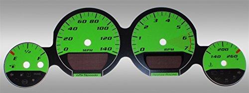 Speedo Base (US Speedo MAG0611 - Daytona Edition Gauge Faces - Green / Green Night - 140 MPH - for: Dodge Mag / Charg / Challenger Base)