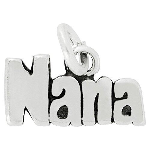 Nana Charm Pendant Jewelry (Sterling Silver Nana Letters Charm Pendant (7 x 12 mm))