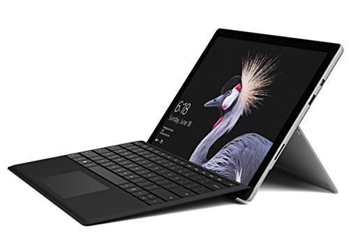 Microsoft Surface Pro 256GB i5 with Black Type Cover Bundle (8GB RAM, 2.6GHz i5, 12.3 Inch TouchScreen) Newest Version 2017 (Renewed)