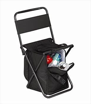 Amazon Com Preferred Nation Picnic Chair With Cooler Black