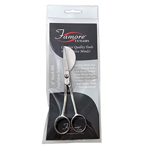 Famore Duckbill Applique Scissor 6in