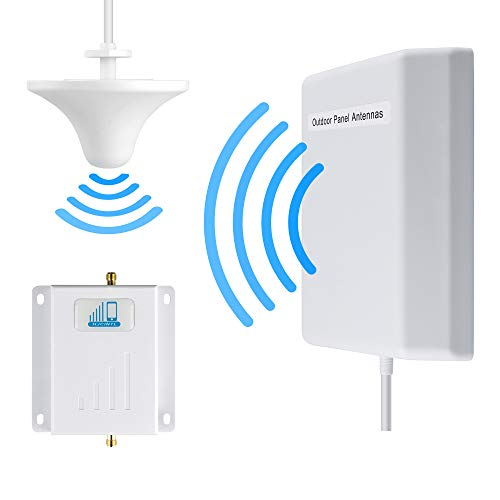 Cell Phone Signal Booster ATT 4G LTE Cell Booster HJCINTL Band12/17 Cell Phone Signal Amplifier Mobile Phone Signal Repeater Booster Kits with Ceiling/Panel Antennas