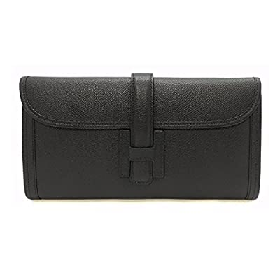 LUX EPSOM LEATHER CLUTCH Genuine Premium Calfskin Womens Korean Handbag