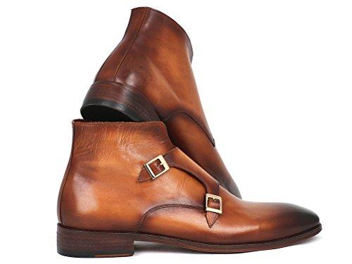 Paul Parkman Men's Double Monkstrap Boots Brown qM852