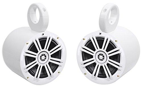 """(2) Kicker 6.5"""" Easy Mount Waterproof Soundbar/Roll Bar Speakers for Jeep Wrangler"""