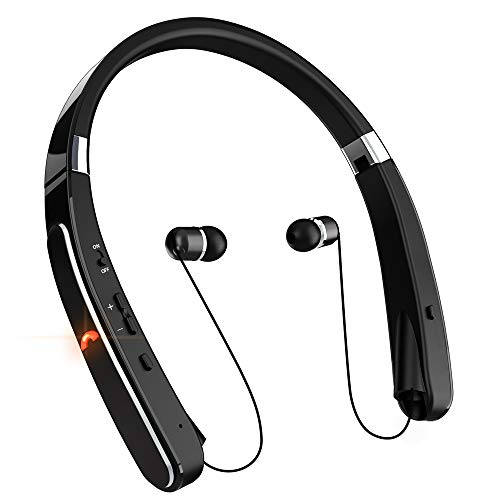Bluetooth Headphones, Neckband Bluetooth Headset, Dostyle [30 Hours Playtime] Wireless Bluetooth Headphones w/Mic & Retractable Headset Compatible for All Cellphones Samsung Galaxy Android Phones
