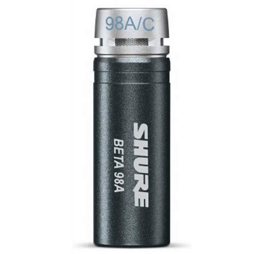 - Shure Beta 98A/C Miniature Cardioid Condenser Instrument Microphone (Includes RPM626 In-Line Preamplifier, RK282 Shock Mount Swivel Adapter and 15' Triple Flex Cable)