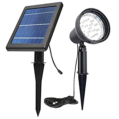 Upgrade Solar SpotLights Outdoor Waterproof Super Bright Solar Flag Pole Light Solar Landscape Lights Wall Light for Garden Pathway Tree Driveways Automatically Activates from Dusk to Dawn (White)