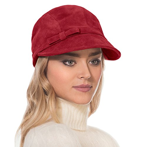 Eric Javits Luxury Fashion Designer Women's Headwear Hat - Ca p d'hiver - Red by Eric Javits