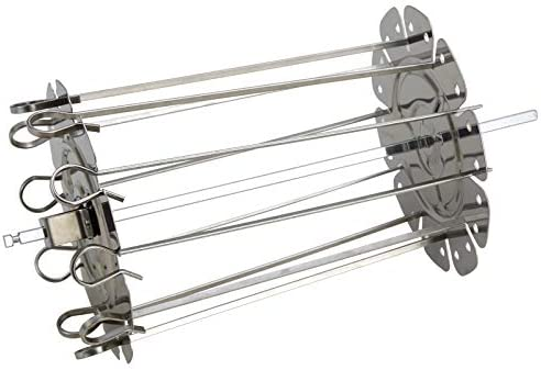Stainless Steel Grilled Cage BBQ Roaster Barbecue Kebab Maker Meat Skewer