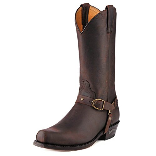 8f8e2179915 Sendra 3091 Men's Cowboy Boots Brown Chocolate Leather Western Biker ...