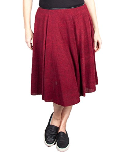 Plus Size Burgundy Easy Skirt --Size: 2x Color: Burgundy