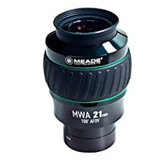 """Meade series 5000 MWA eyepiece, 100 Degree, 21mm focal length, 2"""" Barrel Size, 45mm field stop. Meade MWA series eyepieces offer a gigantic 100 Degree apparent field of view for an amazing, panoramic observing experience like no other. All ey..."""