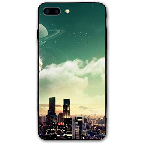 Xianjing iPhone 7 Plus Case/iPhone 8 Plus Case Hot Air Balloons City Anti-Scratch PC Rubber Cover Lightweight Slim Printed Protective Case ()