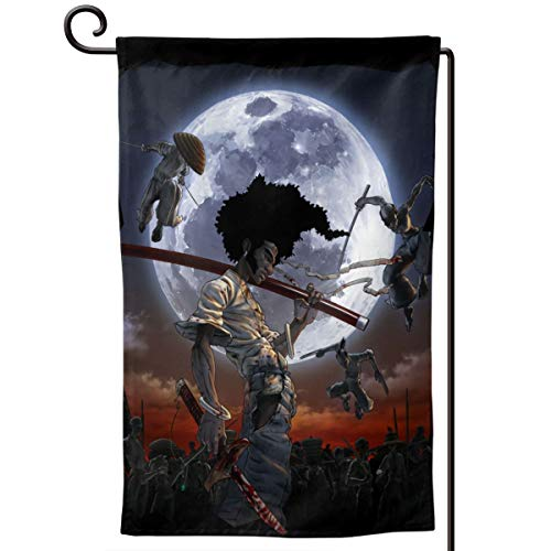 - Zhangyanchun Chic Afro Samurai Flag 12.5 X 18 Inches