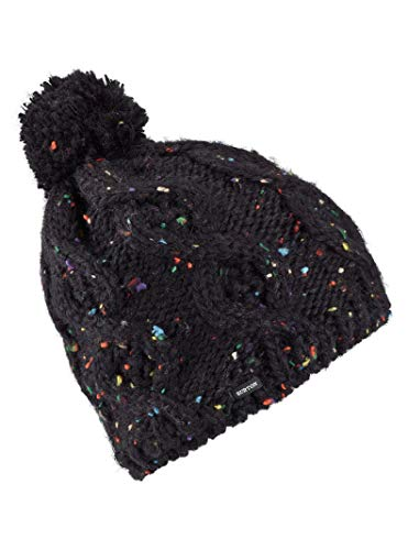 Burton Women's Chloe Beanie, True Black W20 (Winter Hats Women Burton)