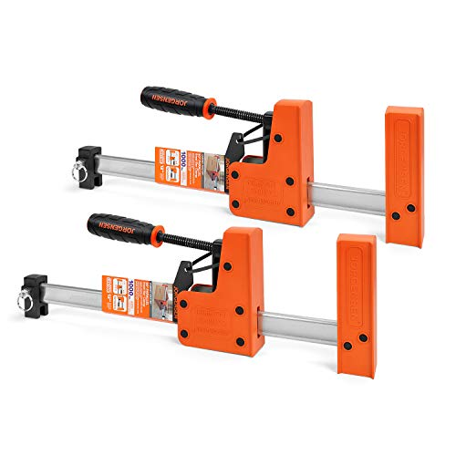 Jorgensen 12-inch Parallel Jaw Bar Clamp Set, Woodworking Clamps, Cabinet Master, 2-Pack