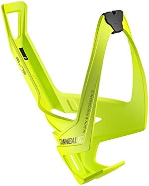 Elite Cannibal Xc Yellow Fluo Bottle Cage, Black Graphic