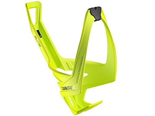 (Elite Cannibal Xc Yellow Fluo Bottle Cage, Black Graphic)