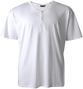 Redfield XXL Camiseta blanca con banda de botones: Amazon.es: Ropa y accesorios