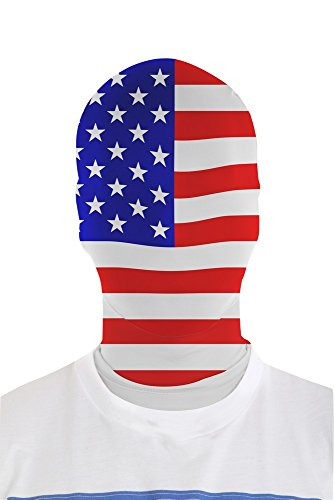 Red And White Morphsuit (Morphsuits Morphmask Flag United States, Red / Blue / White, One Size)