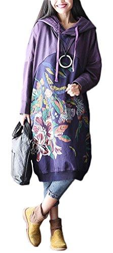 Soojun Womens Spliced Pattern Sweatshirt