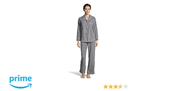 14f7fddf Kathy Ireland Womens Fleece Micropolar Button Down Pajama Shirt and Pants  Set Black Small at Amazon Women's Clothing store: