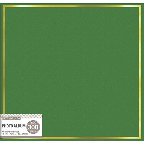 K&Company 5 Up Post Bound Album -Green