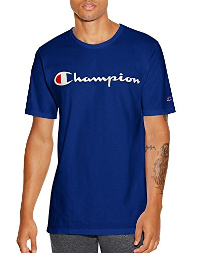 Champion LIFE Men's Heritage Tee, Surf The Web/Patriotic Champion Script, M from Champion LIFE