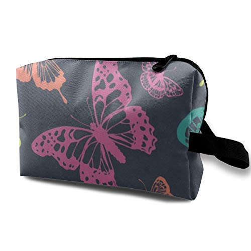 Receive Bag Custom Watercolor Butterfly (4) Makeup Pouch Waterproof Toiletries Organizer Bag For Travel Packing Bag With Zipper