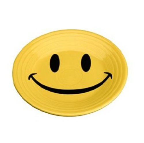 Fiesta Dinnerware Smiley Luncheon Plate by Fiesta