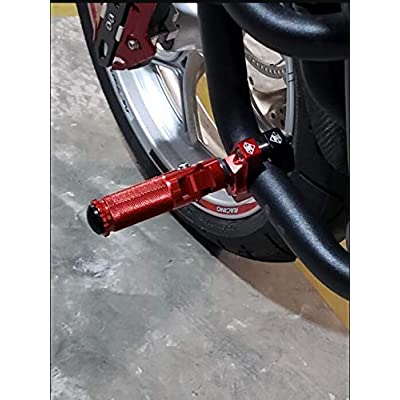 8mm Billet Motorcycle Folding Rearsets Footrest Footpegs Foot pegs Pedal Universal for Yamaha Honda Kawasaki Suzuki KTM BMW Buell Benelli Aprilia Ducati MV Agusta TRIUMPH: Automotive