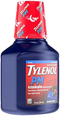 Tylenol PM Extra Strength Liquid Diphenhydramine HCI/Acetaminophen Sleep Aid/Pain Reliever, 8 fl. oz