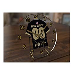 FanPlastic College Football Independents(FBS) - Personalized Desktop Clocks - Size 7 X 7 X 2 - The Best A Fan CAN GET !!! (Army)