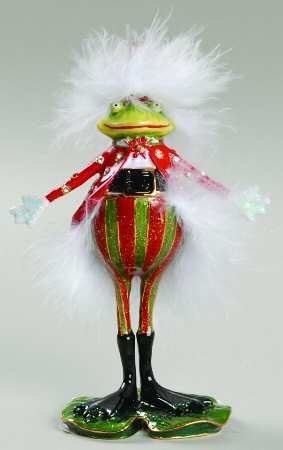 Department 56 Krinkles Santa Frog Jeweled Box #56.39380