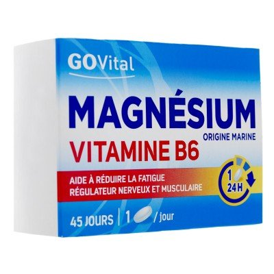 Magnésium Vitamine B6 45 comprimés Govital