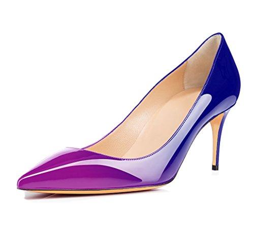 Chaussures Violet 65mm Talons Femmes Escarpins bleu Ubeauty Stilettos Aiguille Haut Taille Grande Talon Femme w7EAfvAnqx