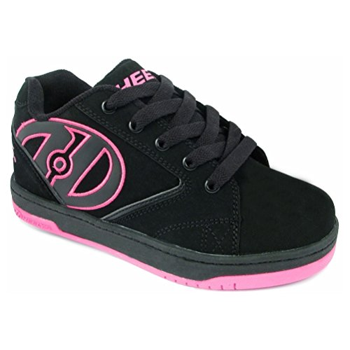 Pink Black Heelys - Heelys Girls Propel Black/Pink Sneaker - 4