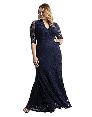 Kiyonna Women's Plus Size Screen Siren Lace Gown