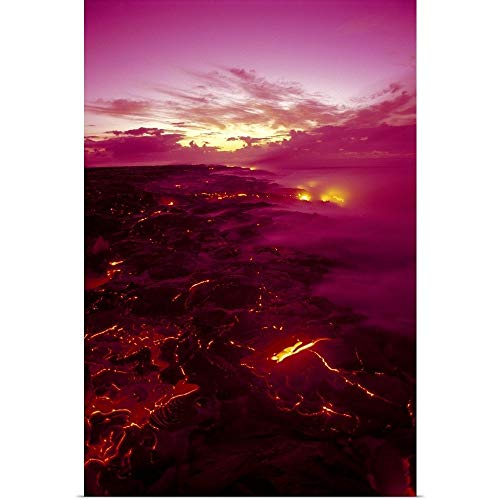 - GREATBIGCANVAS Poster Print Entitled Hawaii, Big Island, Hawaii Volcanoes National Park, Kilauea Volcano Lava Flow by Ron Dahlquist 12