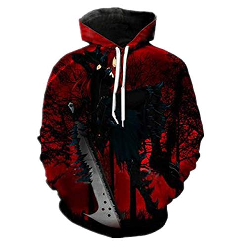 ZIMCA Men Fairy Tail 3D Printed Pullovers Casual Pouch Pocket Drawstring Hoodies (Design 8, US XL/Tag XXL) (Fairy Tail Xxl Hoodie)