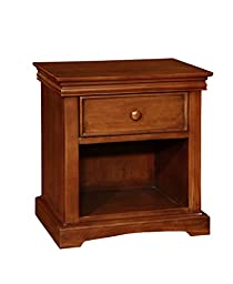 Bolton Furniture 8601700 Cambridge 1-Drawer Nightstand, Chestnut