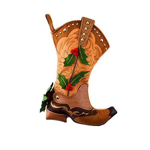 Christmas Stocking Cowboy Boot Style - Cute Gift Idea - Holiday Decor Decoration - One Hundred 80 (Cowboy Wedding Ideas)