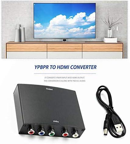 R//L Audio to HDMI Converter Rodalind-CA YPBPR to HDMI Converter AV HDCP YPbPr//RGB