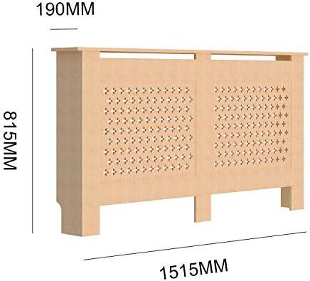Famgizmo Radiator Cover, Unpainted Radiator Cover, Cross Design Slats Modern MDF Heating Cabinet Home Furniture, Large