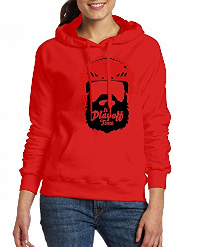a man with beard wears a red helmet Womens Hoodie Fleece Custom Sweartshirts